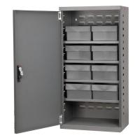 10A024 Cabinet, Gray, Steel Door, 8 Gray Drawers
