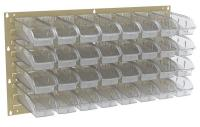 10A030 Louvered Panel, Beige, 32 InSight Bins
