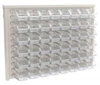 10A032 Louvered Wall Panel with 48 Bins