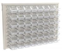 10A033 Louvered Wall Panel with 48 Bins