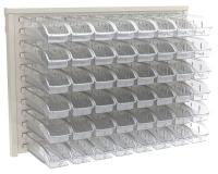 10A034 Louvered Wall Panel with 48 Bins