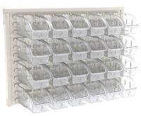 10A035 Louvered Wall Panel with 24 Bins