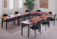1UC76 Table, Training/Meeting, 29Hx48W, 1/2 Round