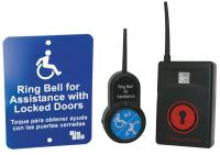 21EW75 ADA Push Button Alert w/ Sign, Black