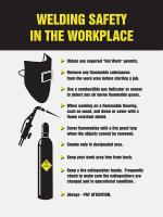 31A032 Poster, Welding Safety In The, 18 x 24 In.