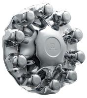 33W445 Front Hub Cover, 33mm, Chrome