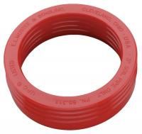 46Z651 Drain Seal, Rubber, Red, 3 In
