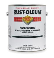4VYG7 5600 Floor Paint, Safety Yellow, 1 gal.