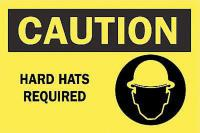 6CW48 Caution Sign, 10 x 14In, BK/YEL, ENG, SURF