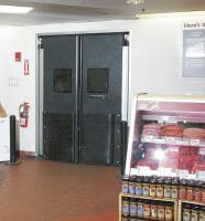 8NJL6 Commercial Impact Door, 7x5 Ft