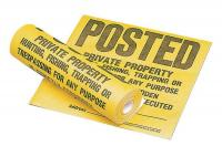 9DYR1 Caution Sign, 12x12In, BK/YEL, Roll of 100